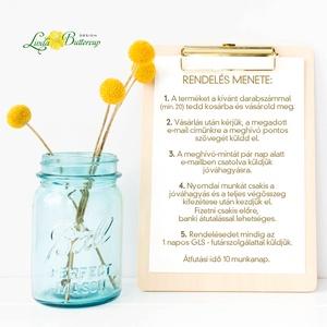 Esküvői meghívó, Modern virágos meghívó, vízfesték hatású meghívó, kék meghívó, tengerkék esküvő, elegáns, romantikus (LindaButtercup) - Meska.hu