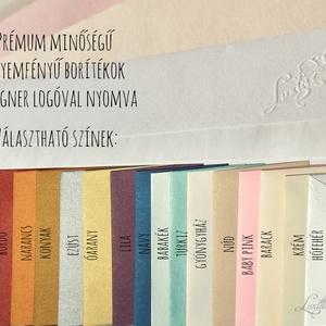 Natúr esküvői meghívó, újrahasznosított papír meghívó, barna kraft papír, kraft meghívó, egyszerű, barna, natúr esküvő (LindaButtercup) - Meska.hu