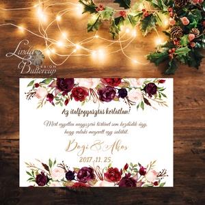 Esküvői Poszter A2, Esküvői kép, Esküvő Dekor, Esküvői felirat, Vintage, Elegáns, Virágos, Őszi, Téli, Karácsony, vicces, Esküvő, Esküvői dekoráció, Dekoráció, Otthon & lakás, Kép, Fotó, grafika, rajz, illusztráció, Papírművészet, A/2-es Esküvői Poszter, bármilyen felirattal, keret nélkül.\n\nTökéletes kellék & Dekor Elegáns és Vin..., Meska
