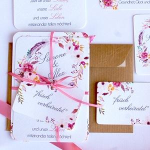 Vintage Esküvői meghívó, Romantikus, elegáns meghívó, marsala, Barack virág, virágos meghívó, Modern, mezei, rétivirág, , Esküvő, Meghívó, Meghívó & Kártya, Fotó, grafika, rajz, illusztráció, Papírművészet, Meska