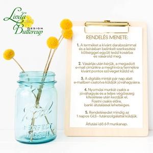 Cseresznyevirágos Esküvői meghívó, Virágos Esküvői lap, Esküvő Képeslap, pink, pasztell, arany, cseresznye fa virág (LindaButtercup) - Meska.hu