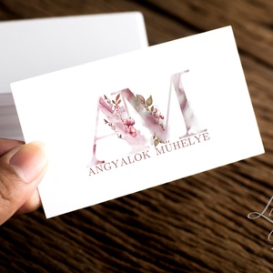 Névjegykártya, Egyedi Tervezés, címke, Névjegy, design, szerkesztés, virágos, logo, arany, termék, ajándékkísérő, logó (LindaButtercup) - Meska.hu