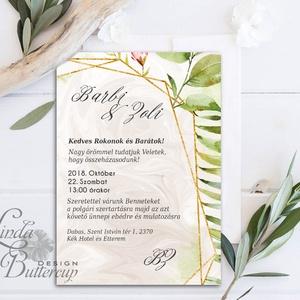 Erdei Esküvői meghívó, Natúr Esküvő, Rusztikus meghívó, erdei virágos, vad virág, Bohém, zöld, fehér, réti virág, erdő, Esküvő, Meghívó, Meghívó & Kártya, Minőségi Virágos Esküvői  Meghívó  * MEGHÍVÓ CSOMAG BORÍTÉKKAL: - 1.  -Meghívó lap, egy oldalas: kb...., Meska