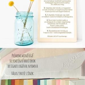 Kék Esküvői meghívó, Zsebes Boríték, Tenger kék, pink, rózsa virágos meghívó, nyári virágos meghívó, vízfesték rózsa (LindaButtercup) - Meska.hu