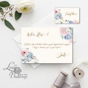 Kövirózsás Tanú felkérő lap, kövirózsa, koszorúslány felkérő lap, Esküvői Képeslap, virágos, rózsa, rózsás, tanú (LindaButtercup) - Meska.hu
