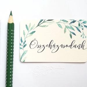 Köszönet kártya, ajándékkísérő,köszönet ajándék, esküvői kísérőkártya, köszönjük, romantikus, arany, virágos, rózsa, Esküvő, Köszönőajándék, Emlék & Ajándék, Igényes köszönetkártya, ajándékkísérő   * MÉRETE: kb: 5.4 x 8 cm Más méret is kérhető, vásárláskor h..., Meska