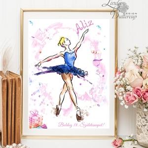 Balerina kép, táncos, tánc, kislány, Babaszoba Dekoráció, baba falikép, Gyerekszoba, szülinapi ajándék, balerina, Dekoráció, Otthon & lakás, Gyerek & játék, Gyerekszoba, Baba falikép, Festészet, Fotó, grafika, rajz, illusztráció, A4 Minőségi Print Lap, Nyomtatás, személyre szóló\n\nTökéletes ajándék és program Szülinapi Partin:\n A..., Meska