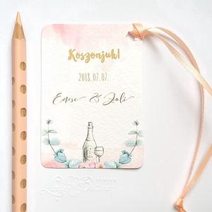 Köszönetkártya,  Rusztikus, natúr, virágos ültető, ültetésirend, hely kártya, virágos esküvői dekoráció (LindaButtercup) - Meska.hu