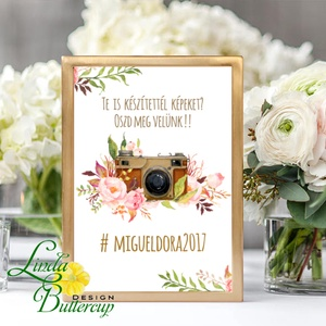 Polaroid fotó Esküvői Felirat A4, fénykép, fotó albumhoz, Esküvői kép, Esküvő Dekor, Esküvői felirat, dekoráció (LindaButtercup) - Meska.hu