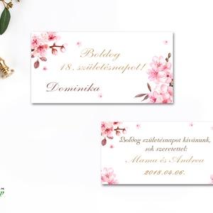 Pénzátadó boríték, szülinapi, ballagásra, évzáró, 18. szülinap, Esküvői Gratuláció, virágos, cseresznyafa virág, tavaszi (LindaButtercup) - Meska.hu