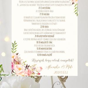 Esküvői Poszter A3, Esküvői kép, Esküvő Dekor, Felirat, Tábla, Vintage, Elegáns, Virágos, Rusztikus, Welcome, vendégváró, Esküvő, Esküvői dekoráció, Dekoráció, Otthon & lakás, Kép, Fotó, grafika, rajz, illusztráció, Papírművészet, A/3-as Esküvői Poszter, bármilyen egyszerű felirattal, keret nélkül.\n\nTökéletes kellék & Dekor Elegá..., Meska