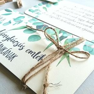 Pénzátadó boríték, greenery, eukaliptusz, zöld, Nászajándék, Gratulálunk képeslap, Esküvői Gratuláció, pénz átadó lap,, Nászajándék, Emlék & Ajándék, Esküvő, Fotó, grafika, rajz, illusztráció, Papírművészet, Igényes Egyedi Személyre szóló Pénz Átadó Zsebes Boríték Szalaggal átkötve.\n\nAdd át nászajándékodat ..., Meska