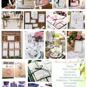 Esküvői Poszter A3, Esküvői kép, Esküvő Dekor, Esküvői felirat, program, idővonal, idézet, üdvözlő, köszöntő, virágos (LindaButtercup) - Meska.hu