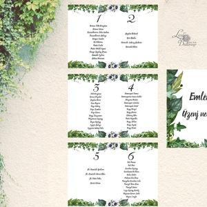 Bohó Ültetési rend, Natúr, természetközeli, seat chart, seating plan, Esküvői ültetésirend, Ültetők, Ültetésrend, (LindaButtercup) - Meska.hu