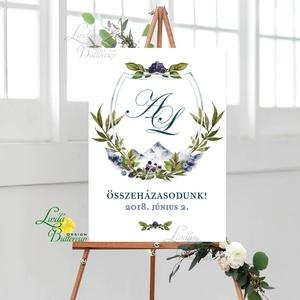Esküvői Poszter A3, Esküvői kép, Esküvő Dekor, Esküvői felirat, program, idővonal, idézet, üdvözlő, köszöntő (LindaButtercup) - Meska.hu