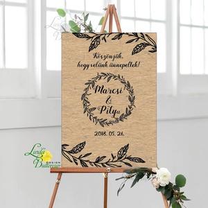 Esküvői Poszter A2, Esküvői kép, Esküvő Dekor, Esküvői felirat, program, idővonal, idézet, üdvözlő, köszöntő (LindaButtercup) - Meska.hu