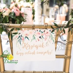 Esküvői Felirat A5, Férj és feleség, MR and Mrs, Köszöntő tábla, üdvözlő felirat, welcome, köszöntünk az esküvőnkön (LindaButtercup) - Meska.hu
