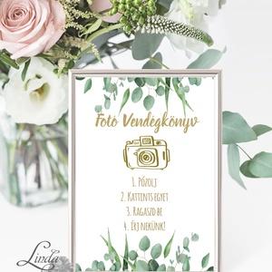 Polaroid fotó Esküvői Felirat A4, fénykép, fotó albumhoz, Esküvői kép, Esküvő Dekor, Esküvői felirat, greenery, natúr (LindaButtercup) - Meska.hu