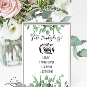 Polaroid fotó Esküvői Felirat A4, fénykép, fotó albumhoz, Esküvői kép, Esküvő Dekor, Esküvői felirat, greenery, natúr, Esküvő, Tábla & Jelzés, Dekoráció, Fotó, grafika, rajz, illusztráció, Papírművészet, Meska