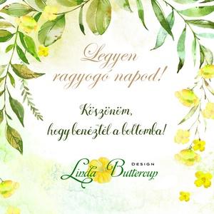 Köszönetkártya,  virágos natúr, esküvői dekoráció, virágkoszorú, virágos, lila, romantikus, nyugalmas - esküvő - emlék & ajándék - köszönőajándék - Meska.hu