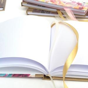 Bordó, Burgundy, Esküvői Emlékkönyv, Vendégkönyv, könyv, rózsa, virágos, virág, elegáns, Esküvői vendégkönyv, arany (LindaButtercup) - Meska.hu