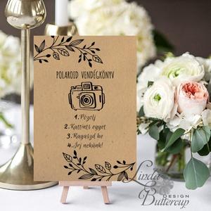 Polaroid fotó Esküvői Felirat A4, fénykép, fotó albumhoz, Esküvői kép, Dekor, Esküvői felirat, natúr, kraft, barna (LindaButtercup) - Meska.hu