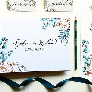 Esküvői Emlékkönyv, gyűrűs fotó mappa Vendégkönyv, természetközeli könyv, natúr, rusztikus, bohém greenery, Esküvő, Vendégkönyv, Emlék & Ajándék, Esküvői emlékkönyv, vendégkönyv Natúr-bézs gerinccel  MÉRET: Fekvő A5 Ha szükséges más méret is kérh..., Meska