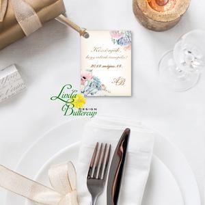 Köszönet kártya, ajándékkísérő,köszönet ajándék, esküvői kísérőkártya, köszönjük, romantikus, kövirózsa, természet, Esküvő, Köszönőajándék, Emlék & Ajándék, Igényes köszönetkártya, ajándékkísérő lyukasztva szalaggal kötve  * MÉRETE: kb: 5.4 x 8 cm Más méret..., Meska