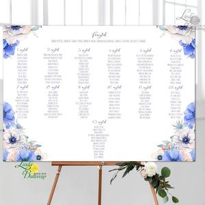 Modern Ültetési rend, Esküvői ültetésirend, Ültetők, Ültetésrend, virágos, rózsaszín, nyugalmas, romantikus - Meska.hu