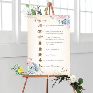 Esküvői Poszter A3, Esküvői kép, Esküvő Dekor, Felirat, Tábla, virágos, romantikus, kövirózsa (LindaButtercup) - Meska.hu