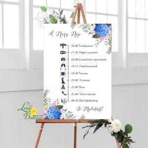 Esküvői Poszter A3, Esküvői kép, Esküvő Dekor, Felirat, Tábla, virágos, romantikus, köszönjük felirat, üzenet (LindaButtercup) - Meska.hu