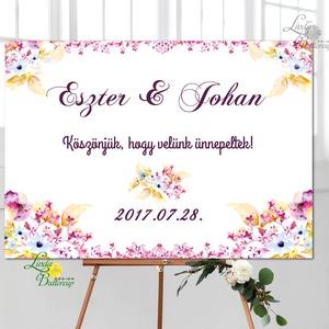 Esküvői Poszter A3, Esküvői kép, Esküvő Dekor, Felirat, Tábla, romantikus, köszönjük felirat, üdvözlő, Esküvő, Tábla & Jelzés, Dekoráció, Fotó, grafika, rajz, illusztráció, Papírművészet, Meska