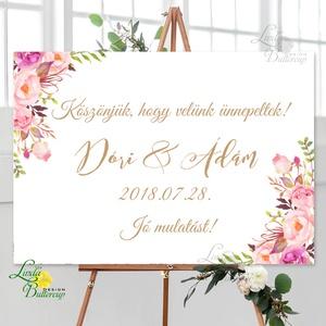 Esküvői Poszter A3, Esküvői kép, Esküvő Dekor, Felirat, Tábla, romantikus, köszönjük felirat, üdvözlő, Esküvő, Esküvői dekoráció, Dekoráció, Otthon & lakás, Kép, Fotó, grafika, rajz, illusztráció, Papírművészet, A/3-as Esküvői Poszter, bármilyen egyszerű felirattal, keret nélkül.\n\nTökéletes kellék & Dekor Elegá..., Meska