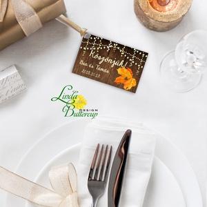Köszönet kártya, ajándékkísérő,köszönet ajándék, esküvői kísérőkártya, köszönjük, falap, faminta, romantikus, mintás (LindaButtercup) - Meska.hu