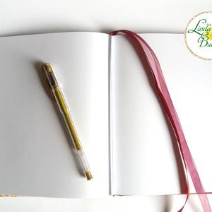 Karácsonyi ajándék, emlékkönyv, napló, recept könyv, mama receptjei, könyv, füzet, receptek, családi album, szülinapi (LindaButtercup) - Meska.hu