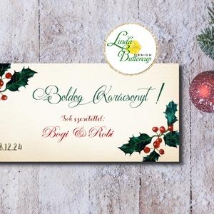 Karácsonyi ajándék, Pénzátadó boríték, utalvány átadó, céges ajándék, pénz, képeslap, egyedi, személyre szóló, Otthon & Lakás, Boríték, Papír írószer, Fotó, grafika, rajz, illusztráció, Papírművészet, Meska