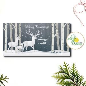 Karácsonyi ajándék, Pénzátadó boríték, utalvány átadó, céges ajándék, pénz, képeslap, egyedi, személyre szóló - otthon & lakás - papír írószer - boríték - Meska.hu