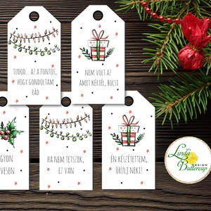 Vicces Karácsonyi Ajándékkísérő, Humoros kártya, szarkasztikus, Mikulás,  Ünnepi, ajándék, egyedi, személyre szóló, Karácsony, Ünnepi dekoráció, Dekoráció, Otthon & lakás, Ajándékkísérő, Naptár, képeslap, album, Ajándékkísérő, Fotó, grafika, rajz, illusztráció, Mindenmás, Vicces-humoros Ajándékkísérő kártyák csomagra\n\n1 CSOMAGBAN: 5db kártya van\n\nHA SAJÁT EGYEDI SZÖVEGET..., Meska