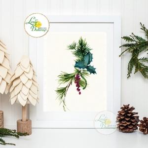 Vintage kép, Print, Vintage karácsonyi kép, dekoráció, dekor, falikép, Adventi, fenyő, toboz, fenyőfa, botanikus, növény, Kép & Falikép, Dekoráció, Otthon & Lakás, Fotó, grafika, rajz, illusztráció, Mindenmás, 13x18cm Minőségi Print Lap, Nyomtatás\n\n* KERET NÉLKÜL! *\n\n* MÉRET: 13x18\n\n* ANYAG: \n250g-os kiváló m..., Meska