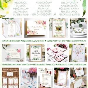 Ültetési rend, Asztalszámok, Esküvői ültetésirend, Ültetők, Ültetésrend, Esküvő dekor, Esküvő ültető kártya, bohém (LindaButtercup) - Meska.hu