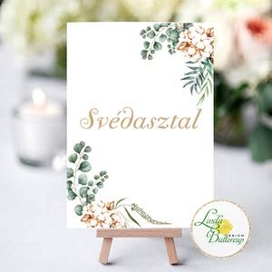 Esküvői dekoráció, felirat, Asztalszám kártya, Dekoráció, kellék, bohém, greenery rusztikus (LindaButtercup) - Meska.hu