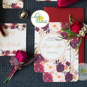 Őszi Esküvői meghívó, Virágos Esküvői lap, Esküvő Képeslap, esküvői meghívó, őszirózsa, rózsás, arany, barna, rózsa, Esküvő, Meghívó, ültetőkártya, köszönőajándék, Naptár, képeslap, album, Otthon & lakás, Képeslap, levélpapír, Fotó, grafika, rajz, illusztráció, Papírművészet, Minőségi Esküvői Virágos Meghívó\n\n* MEGHÍVÓ CSOMAG:\n- Meghívó lap, DUPLA oldalas nyomtatással: kb.: ..., Meska