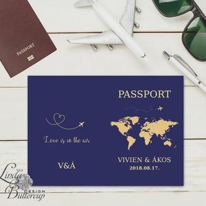 Útlevél meghívó, Beszállókártya Meghívó, Repülőjegy, jegy, utazás, travel, egyedi, fotós, fényképes meghívó, kinyithatós (LindaButtercup) - Meska.hu