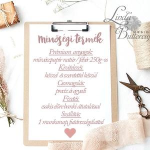 Névjegykártya, Egyedi Tervezés, virágos,monogramos, Névjegy, design, szerkesztés, szépségszalon, ajándékkísérő, logó (LindaButtercup) - Meska.hu