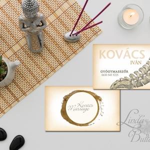 Névjegykártya, Egyedi Tervezés, orvos, masszőr, címke, Névjegy, design, szerkesztés, szépségszalon, ajándékkísérő, logó (LindaButtercup) - Meska.hu