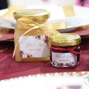 Matrica, pálinkás matrica, dzsem, jam, pálinka, bor, borosmatrica, felirat, Esküvői dekor, köszönet ajándék (LindaButtercup) - Meska.hu