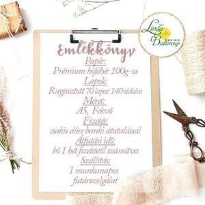 Esküvői Emlékkönyv, gyűrűs fotó mappa Vendégkönyv, virágos könyv, virág, elegáns, rózsás, rózsaszín, ezüst, szürke (LindaButtercup) - Meska.hu