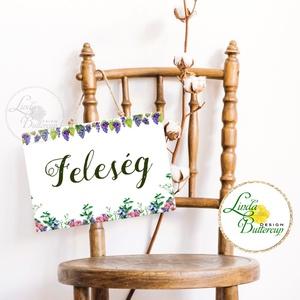 Esküvői Felirat A4, Esküvő Dekor, Papír poszter, tábla, Mr, Mrs, Esküvői felirat, természetközeli, virágos (LindaButtercup) - Meska.hu