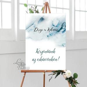 Ültetési rend, seat chart, seating plan, Ültetők, vízfesték, vízfesték hatású, watercolor (LindaButtercup) - Meska.hu