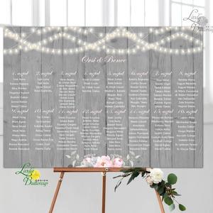 Esküvői Ültető Poszter A3, Esküvői kép, Esküvő Dekor, Esküvői felirat, Vintage, Elegáns, rózsaszín, geometrikus (LindaButtercup) - Meska.hu